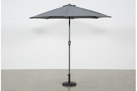 Outdoor Dark Grey Parasol Umbrella - Main