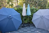 Outdoor Dark Grey Parasol Umbrella - Room