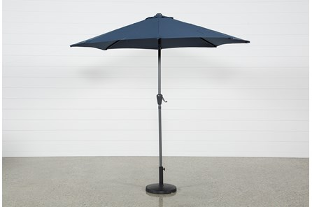 Outdoor Navy Parasol Umbrella - Main
