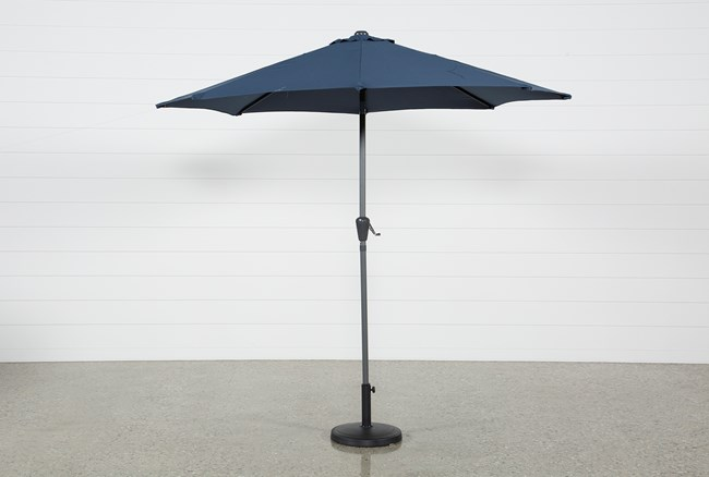 Outdoor Navy Parasol Umbrella - 360