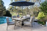Outdoor Navy Parasol Umbrella - Room