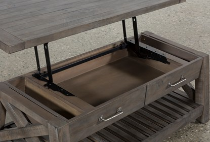 Jaxon Grey Lift Top Coffee Table Living Spaces