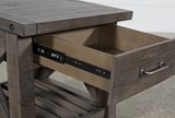 Jaxon Grey End Table - Material