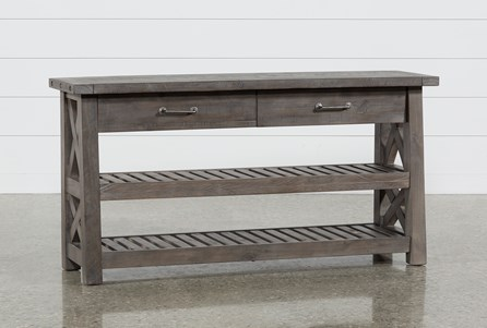 Jaxon Grey Console Table Living Spaces, Cool Sofa Tables