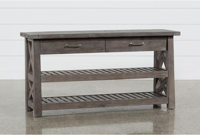 "Jaxon Grey 60"" Sofa Table - 360"