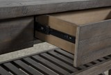 Jaxon Grey Sofa Table - Drawers
