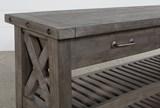 Jaxon Grey Sofa Table - Material