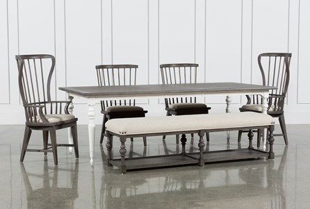 Candice II 6 Piece Extension Rectangle Dining Set