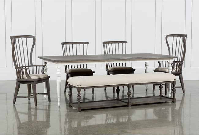 Candice II 6 Piece Extension Rectangle Dining Set   Living Spaces