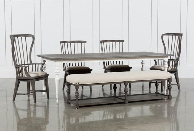 Candice II 6 Piece Extension Rectangle Dining Set - 360