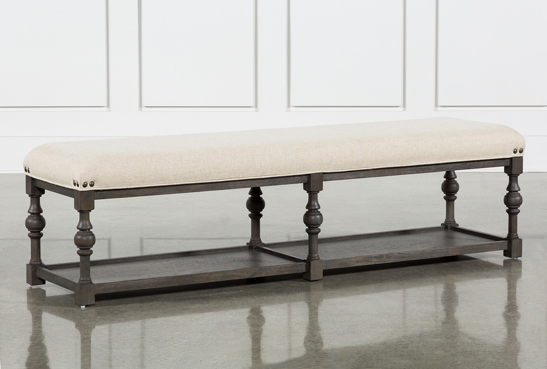 upholstered dining bench diy candice ii upholstered dining bench qty 1 has been successfully added to your cart living spaces