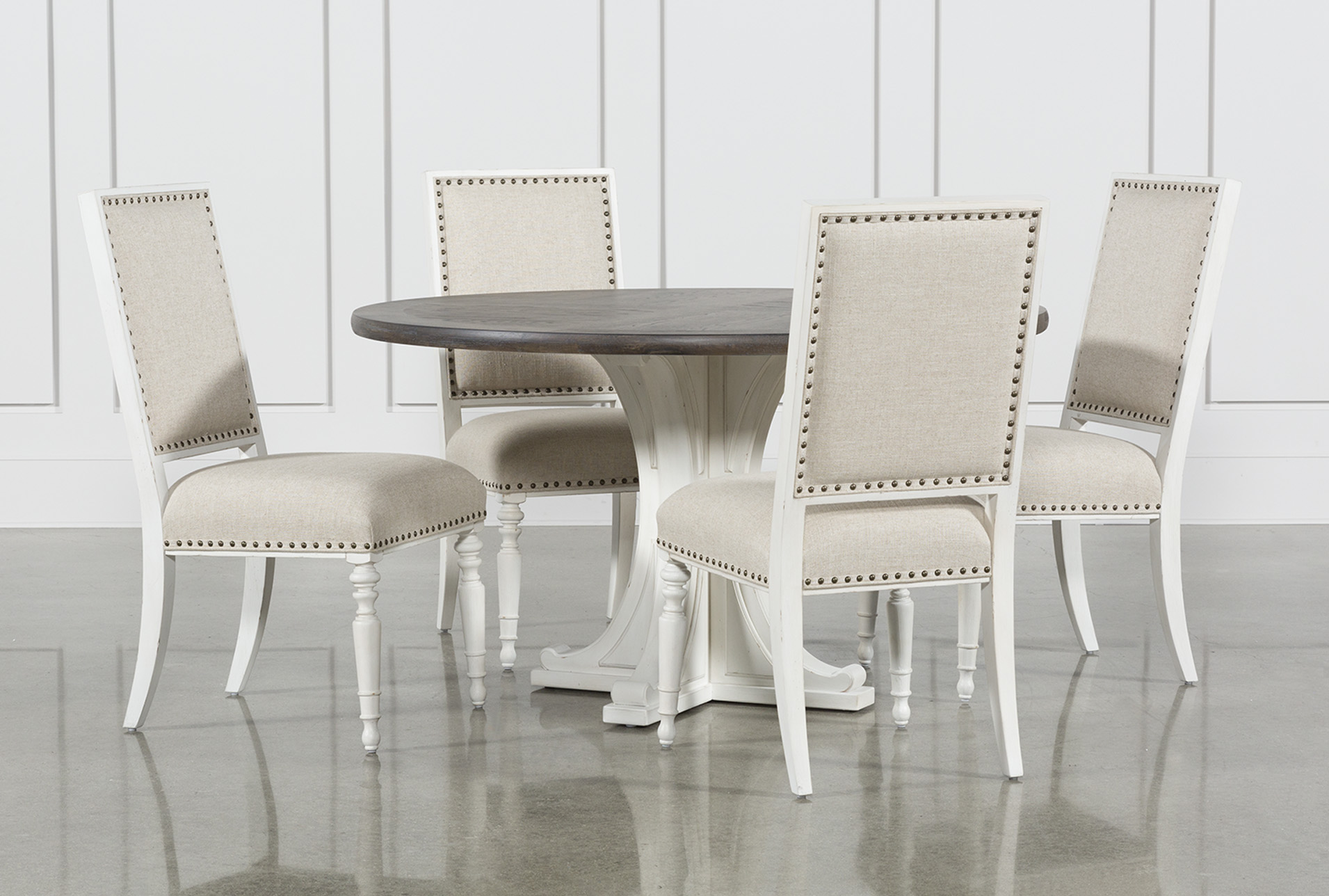 Candice II 5 Piece Round Dining Set