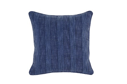 Accent Pillow-Heritage Linen Indigo 22X22 - Main