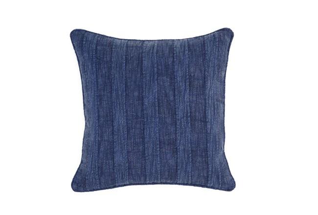 Accent Pillow-Heritage Linen Indigo 22X22 - 360