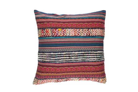 Accent Pillow-Raffia Stripe Multi 20X20 - Main