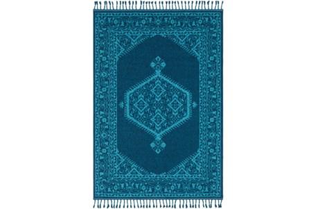 60X87 Rug-Hadid Fringe Vibrant Blue