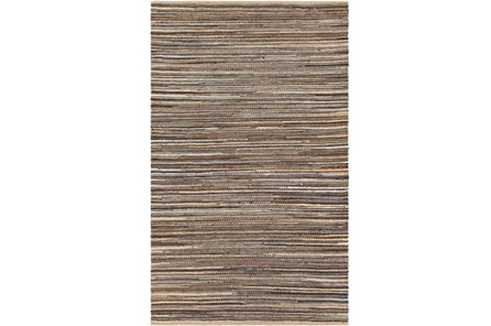 96X120 Rug-Merina Woven Jute Blue/Brown - Main