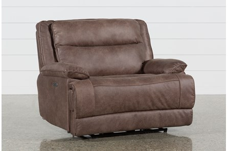 Garland Bark Cuddler Power Recliner With Power Headrest - Main