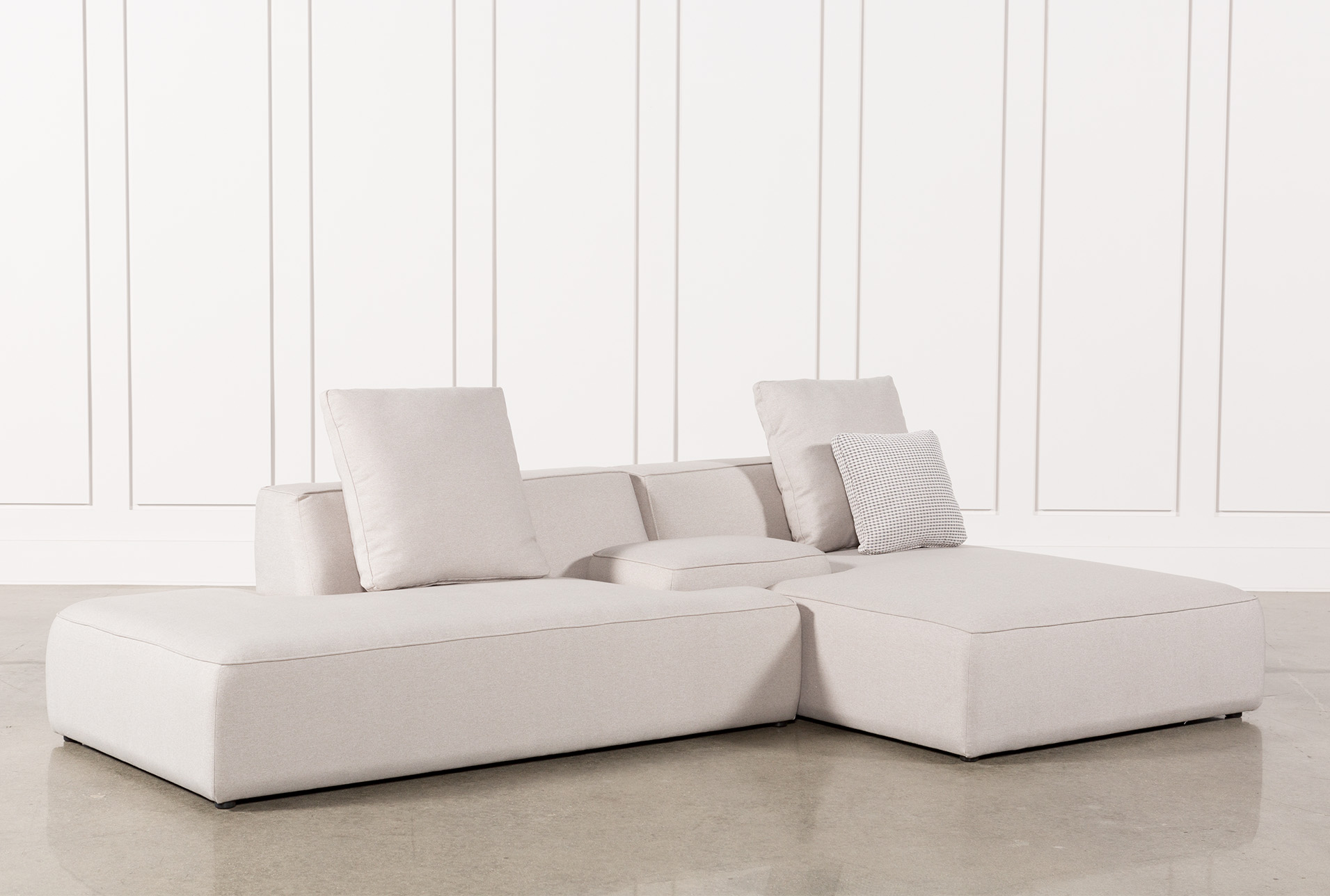 Maggie Light Grey 3 Piece Sectional W/Raf Chaise U0026amp; Solid Stool (Qty: 1)  Has Been Successfully Added To Your Cart.