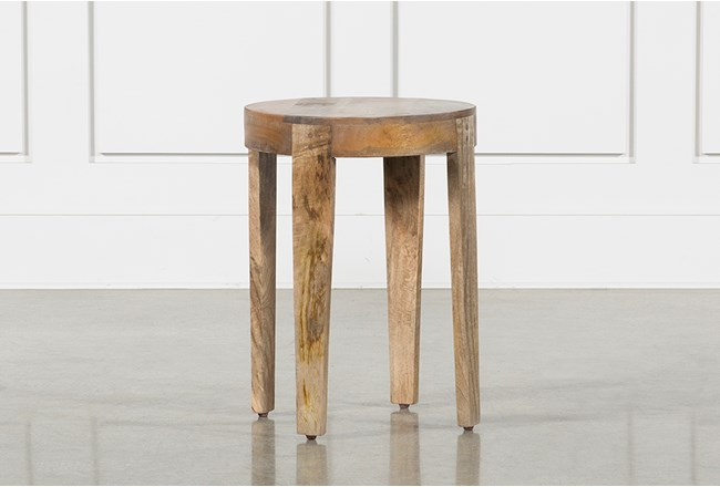 Pyles 18 Inch Circle Accent Table - 360
