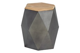 Geo 19 Inch Hexagon Accent Table