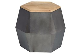 Geo 17 Inch Hexagon Accent Table