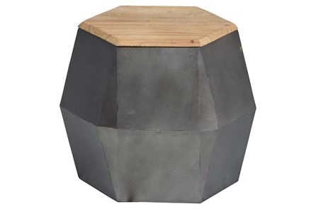 Geo 17 Inch Hexagon Accent Table - Main