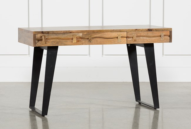 Moraga Live Edge Writing Desk - 360