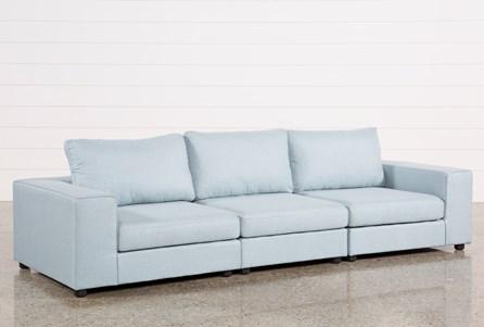 Gabrielle Light Blue 3 Piece Sofa
