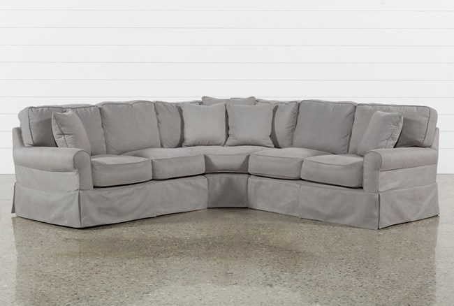 Carlyle Slipcovered 3 Piece Sectional - 360