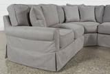 Carlyle Slipcovered 3 Piece Sectional - Left