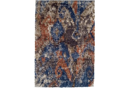 39X61 Rug-Roma Shag Orange/Blue