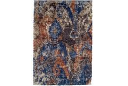 63X91 Rug-Roma Shag Orange/Blue