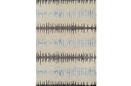 39X61 Rug-Textured Waves Grey/Blue