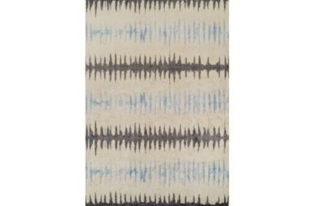 39X61 Rug-Textured Waves Grey/Blue
