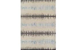 59X84 Rug-Textured Waves Grey/Blue