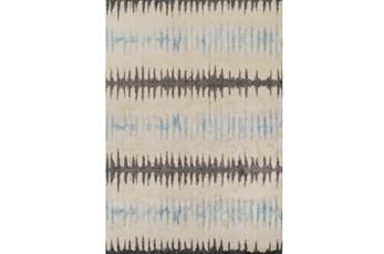 98X120 Rug-Textured Waves Grey/Blue