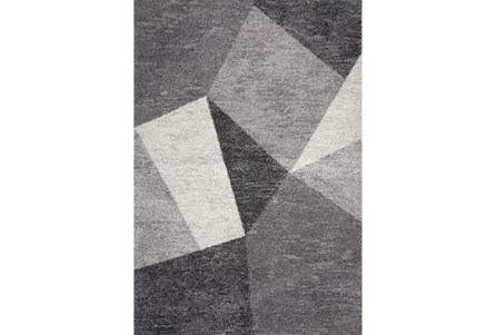 63X90 Rug-Charcoal Facets
