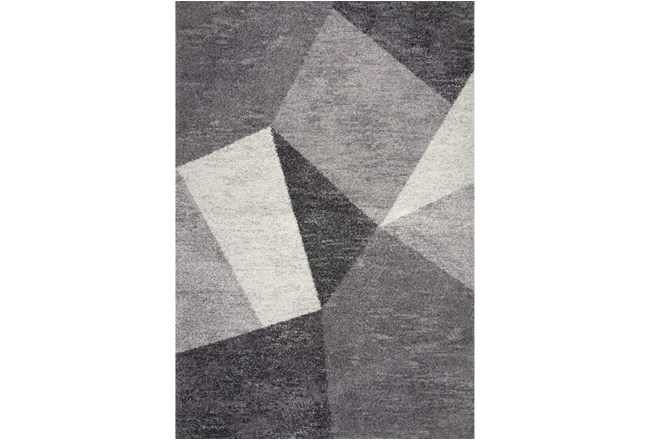 93X126 Rug-Charcoal  Facets - 360