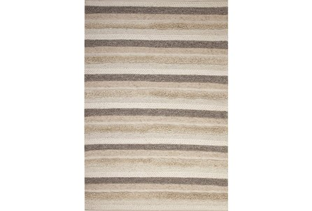 63X90 Rug-Winter Stripe Camel