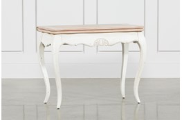White Wash Console Table