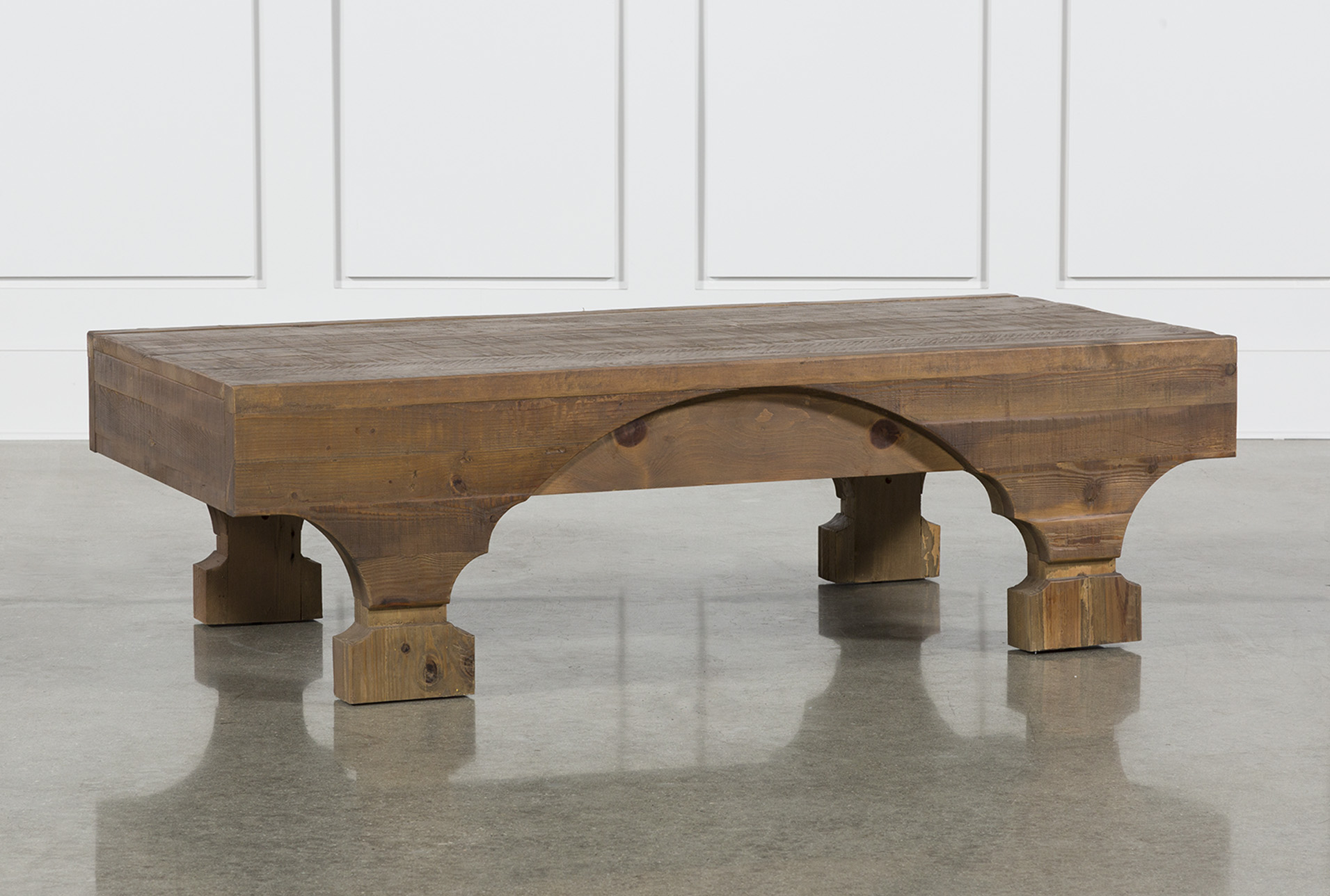 Antique Pine Coffee Table Living Spaces
