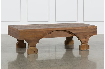 Antique Pine Coffee Table - Main