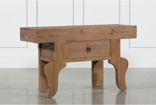Antique Pine Console Table - 360
