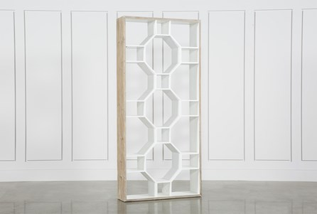 Fortuna White Bookcase