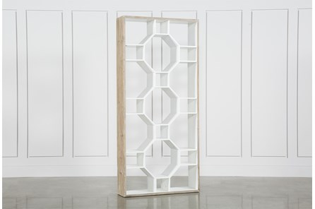 Fortuna White Bookcase - Main