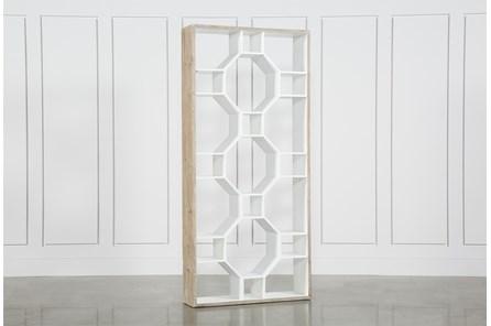 Fortuna White Bookcase - Main