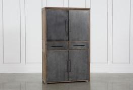 Metal Wood Mix Cabinet
