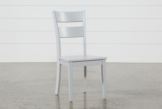 Lindy Dove Grey Side Chair - 360