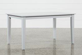 Lindy Dove Grey Rectangle Dining Table